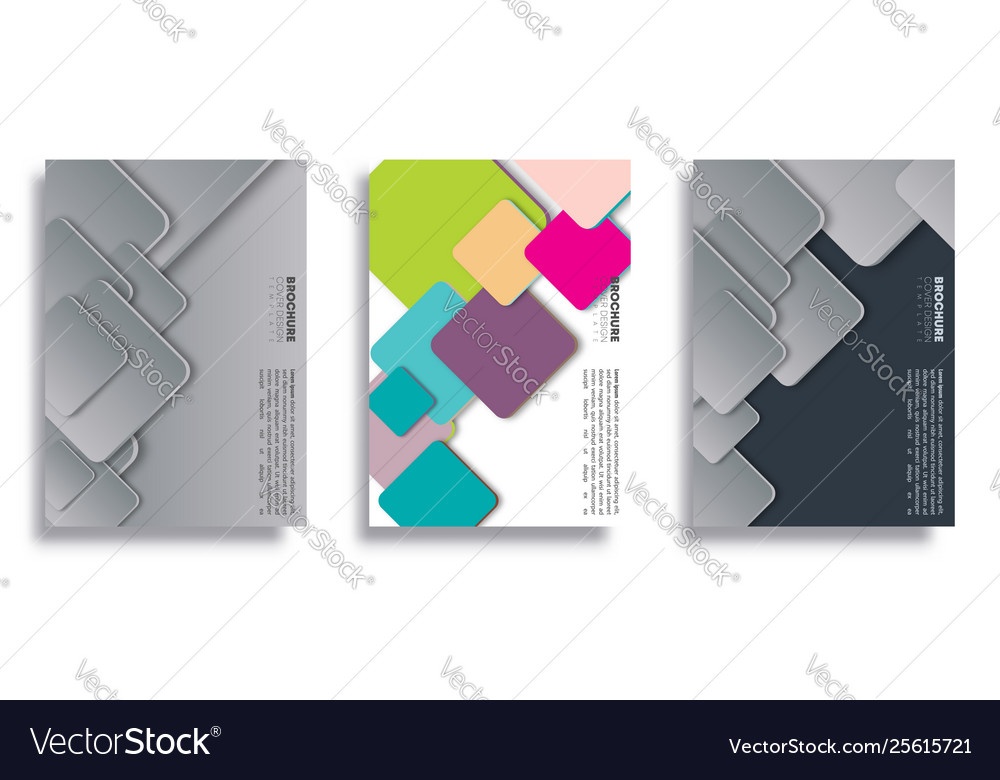 Set geometric cover for flyer poster brochure