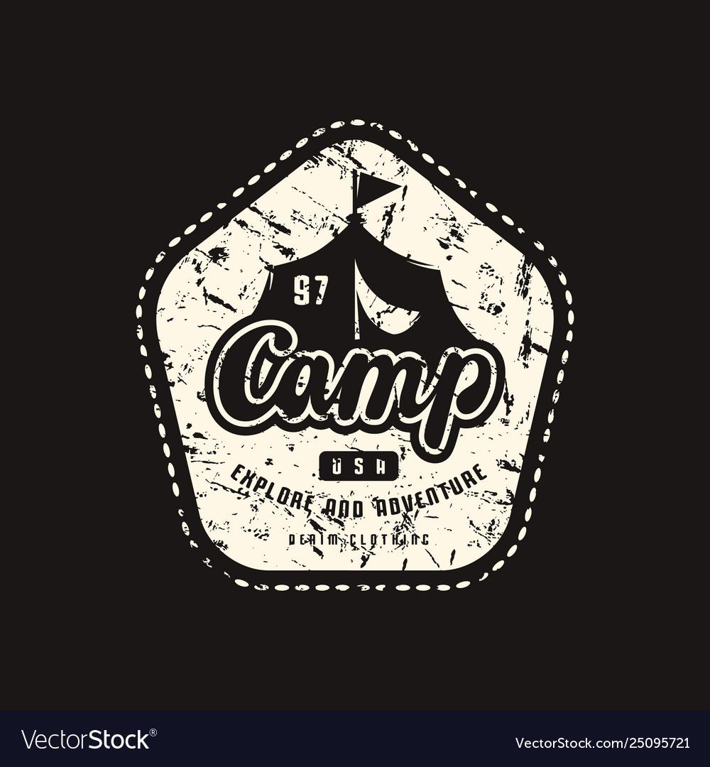 Stock emblem for t-shirt