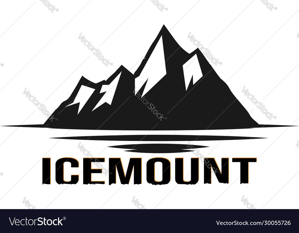 Black ice mountain logo design