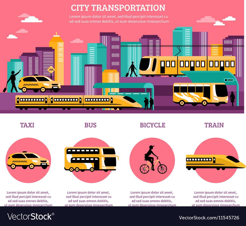 City Transportation Infographics Layout