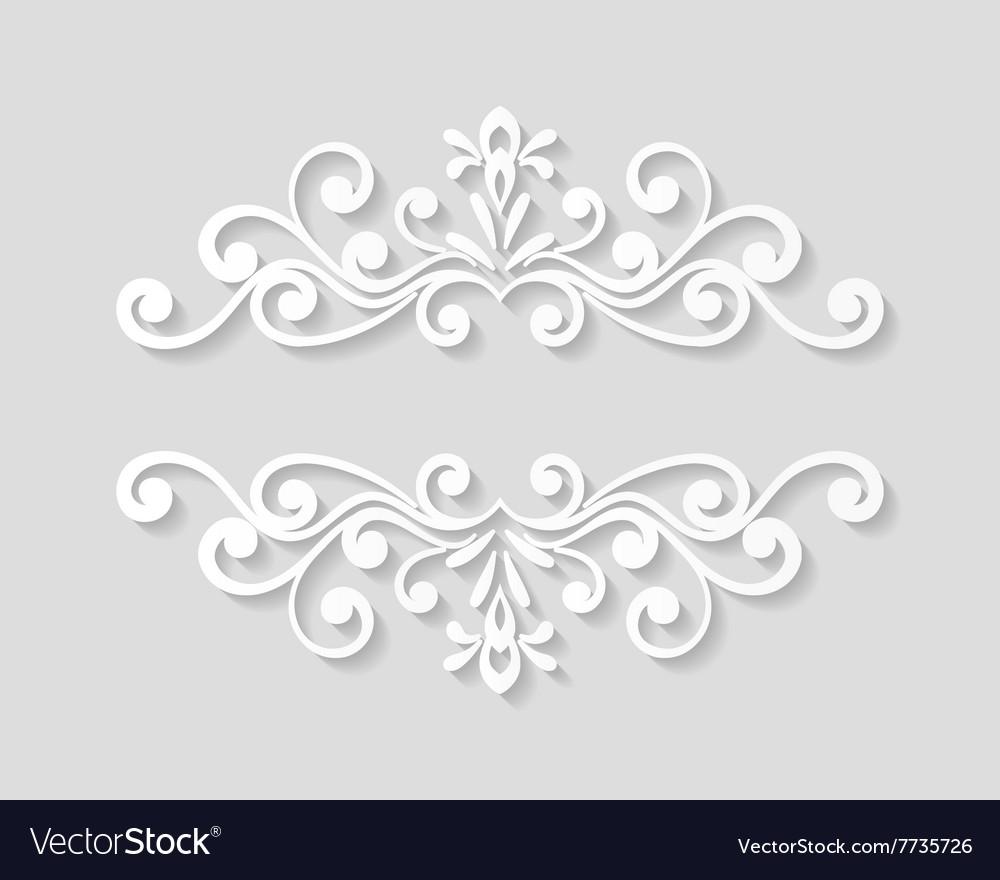 Elegant paper retro floral border