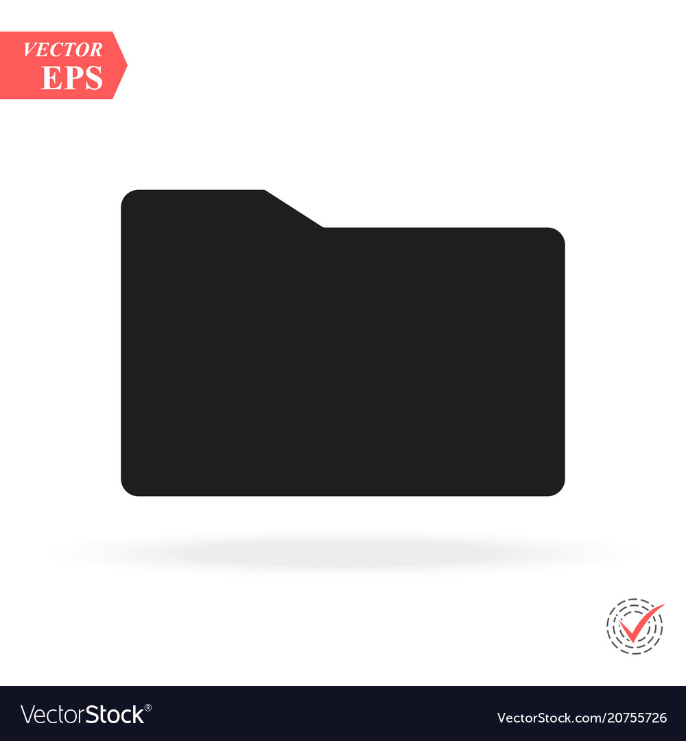 Folder icon simple flat symbol perfect black