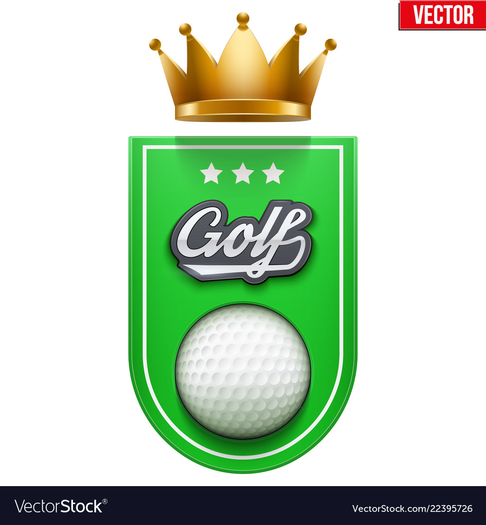 Golf badge and label