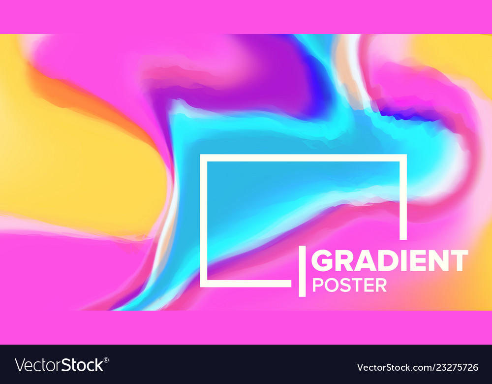 Gradient fluid background poster