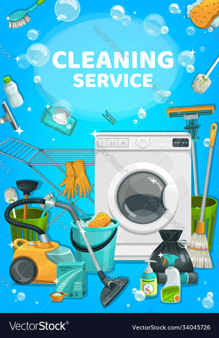 House cleaning service clean home laundry wash