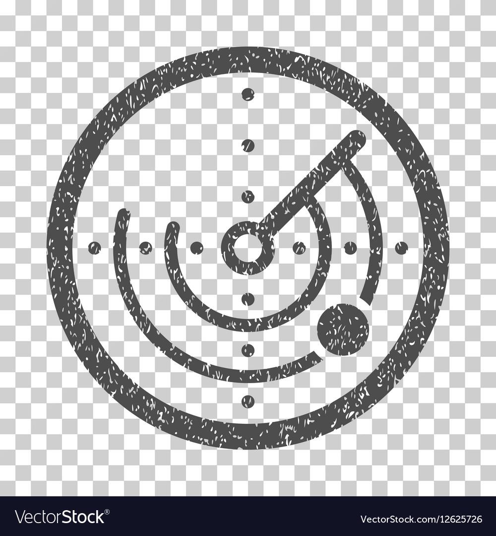 Radar Grainy Texture Icon vector image