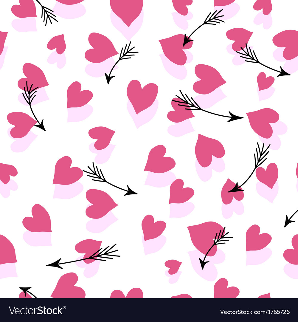 Seamless Hearts And Arrows