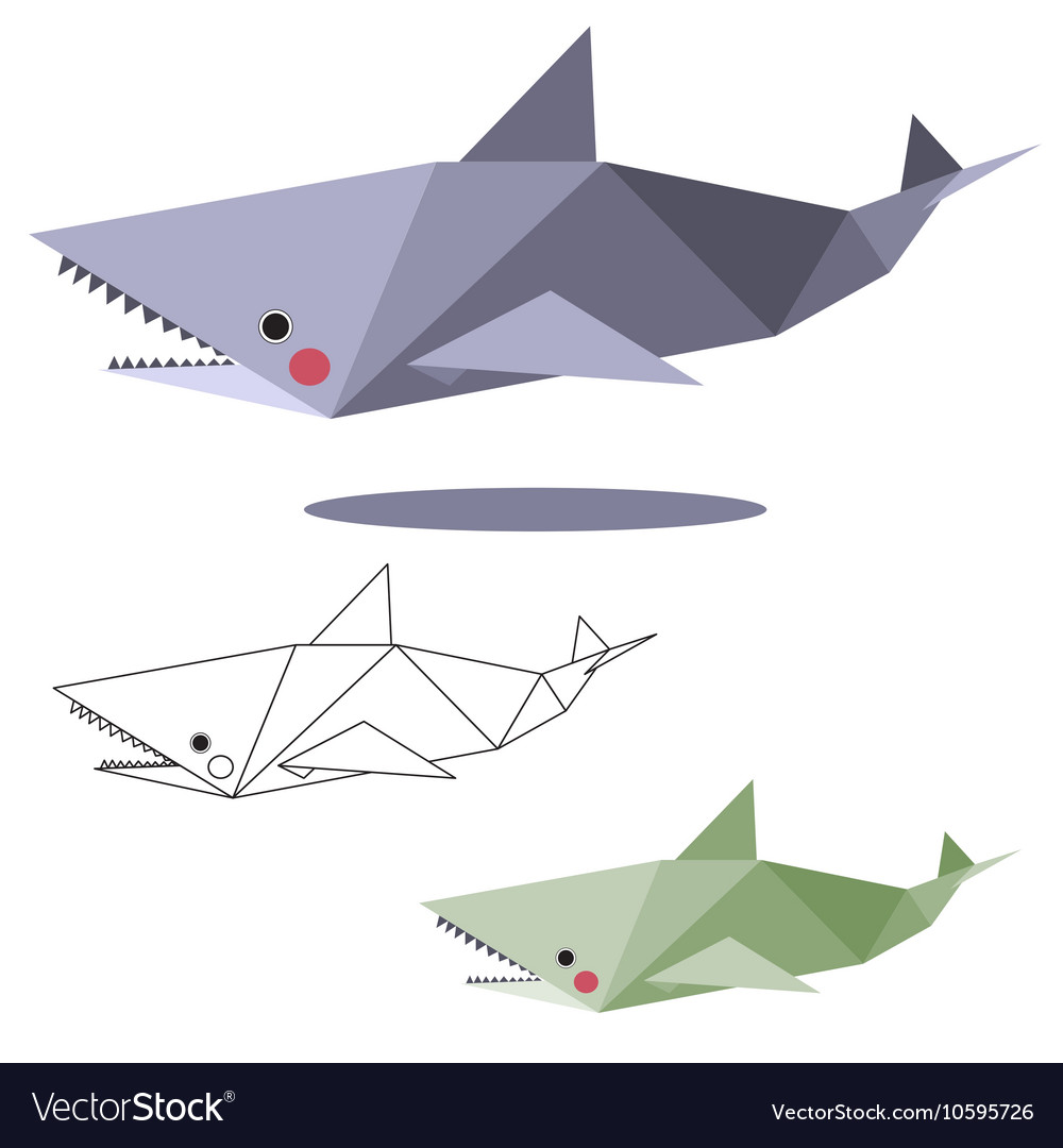 Origami Shark Vector Images 55