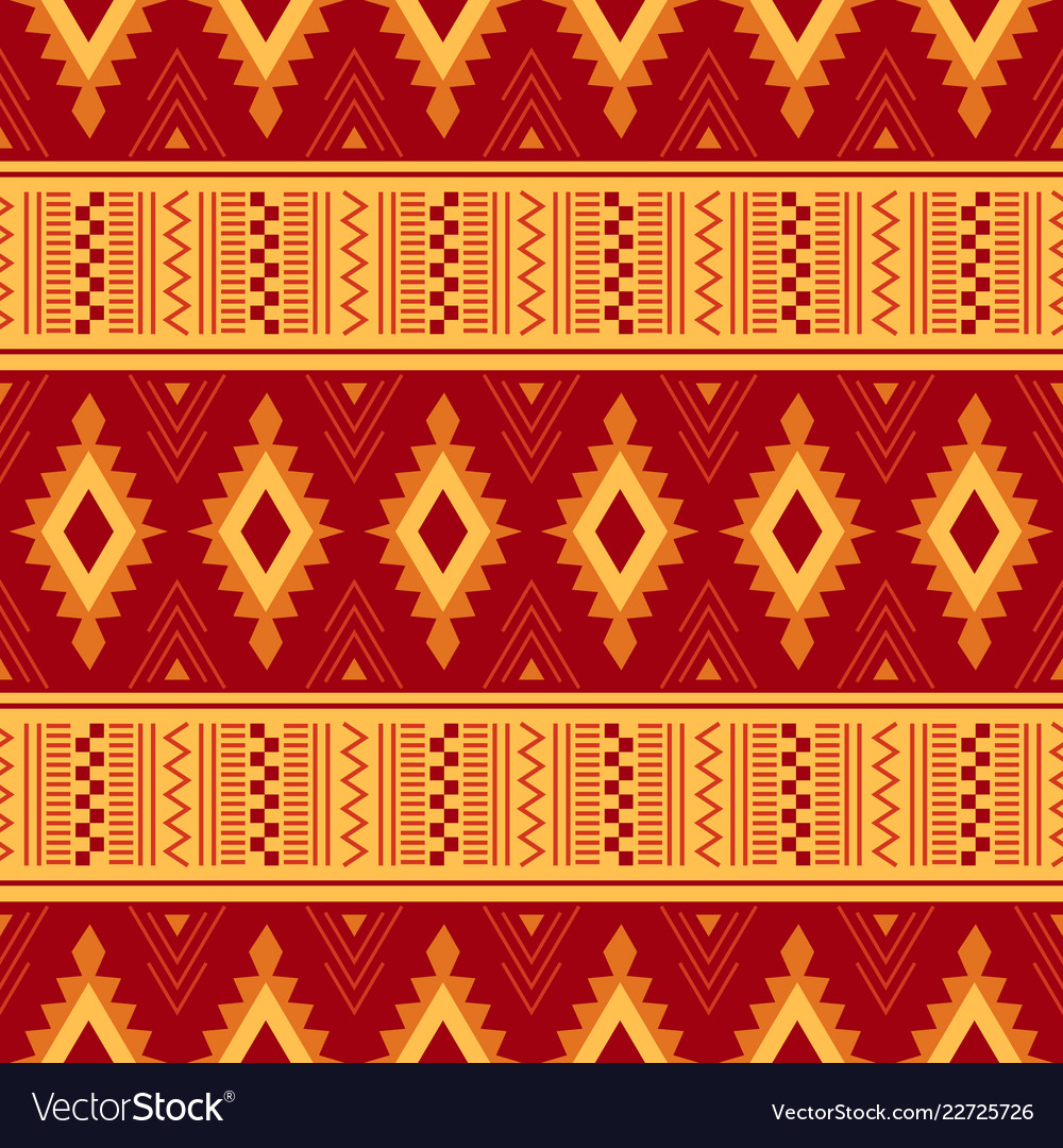 Tribal ornament seamless african pattern