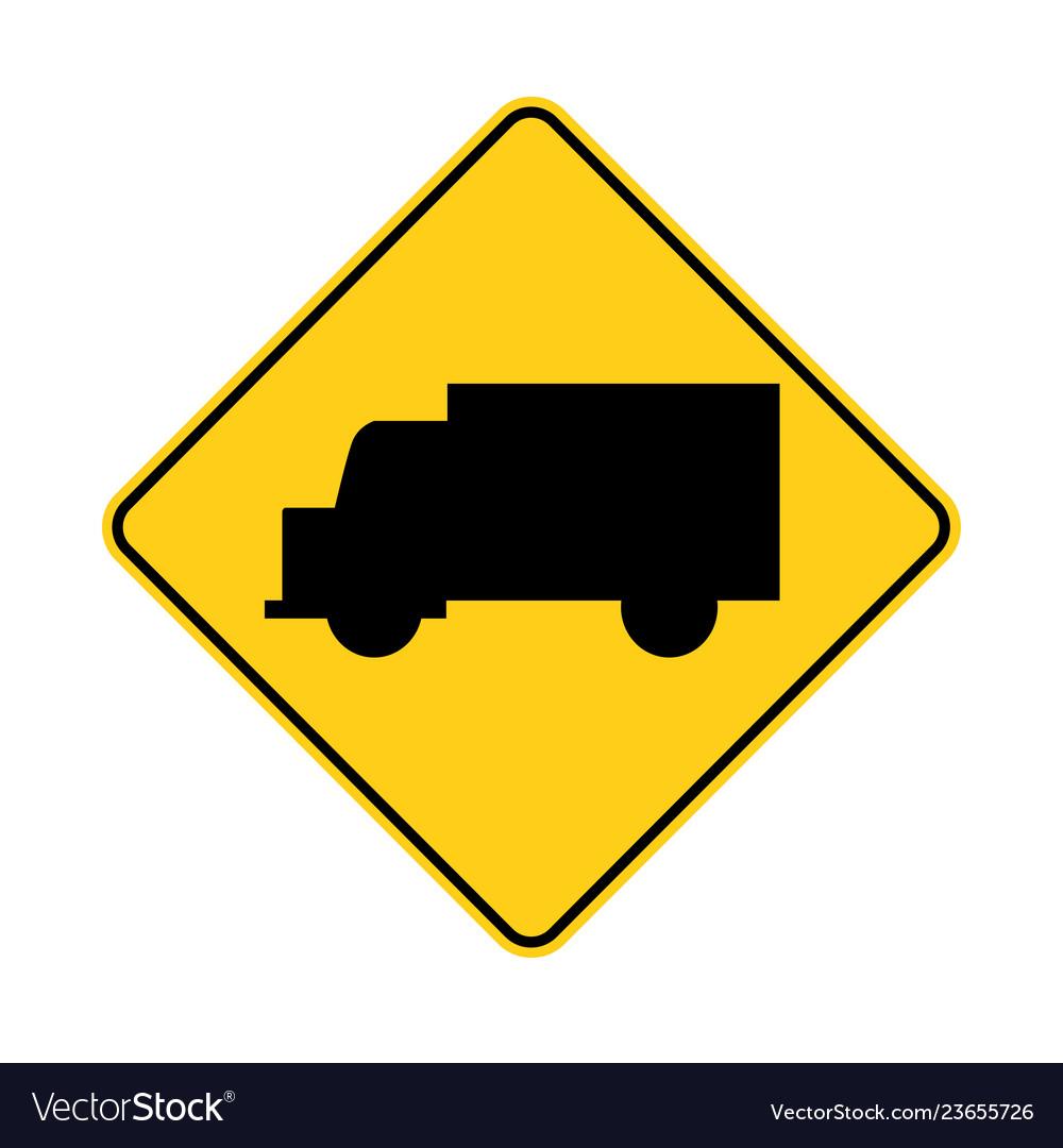 Usa traffic road signtruck ahead or crossing