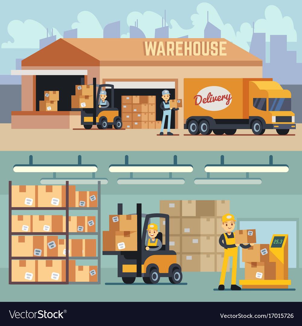 Warehouse storage and shipping logistics