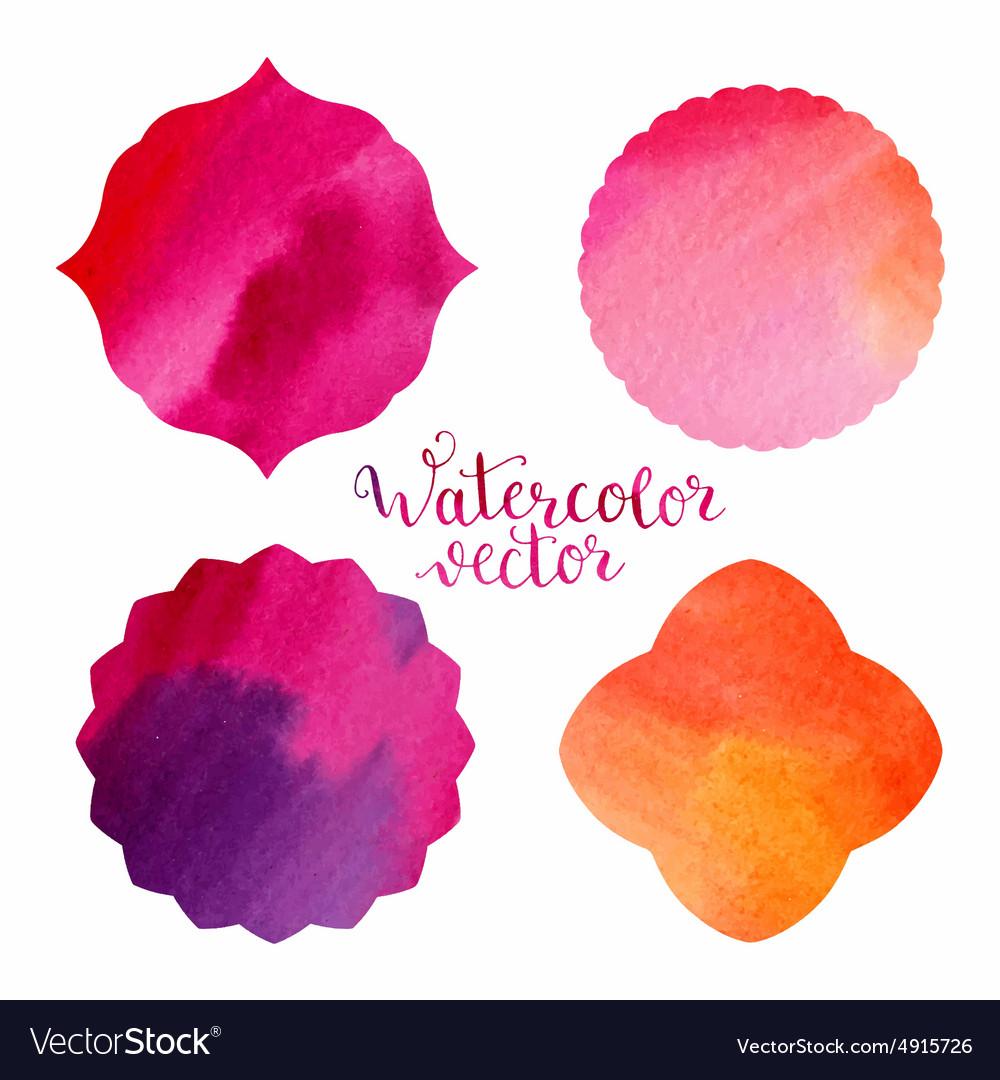 Watercolor frames templates Royalty Free Vector Image