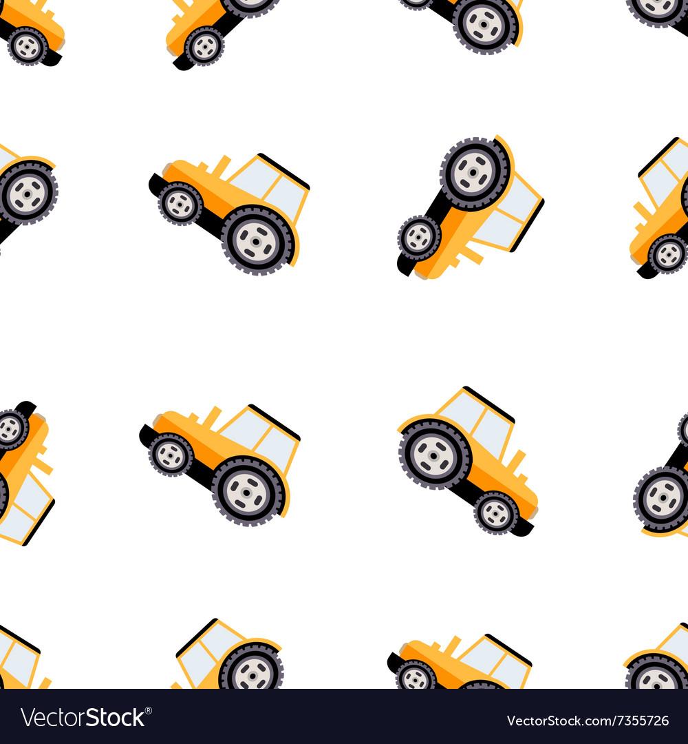 Work Trucks Seamless Pattern Flat