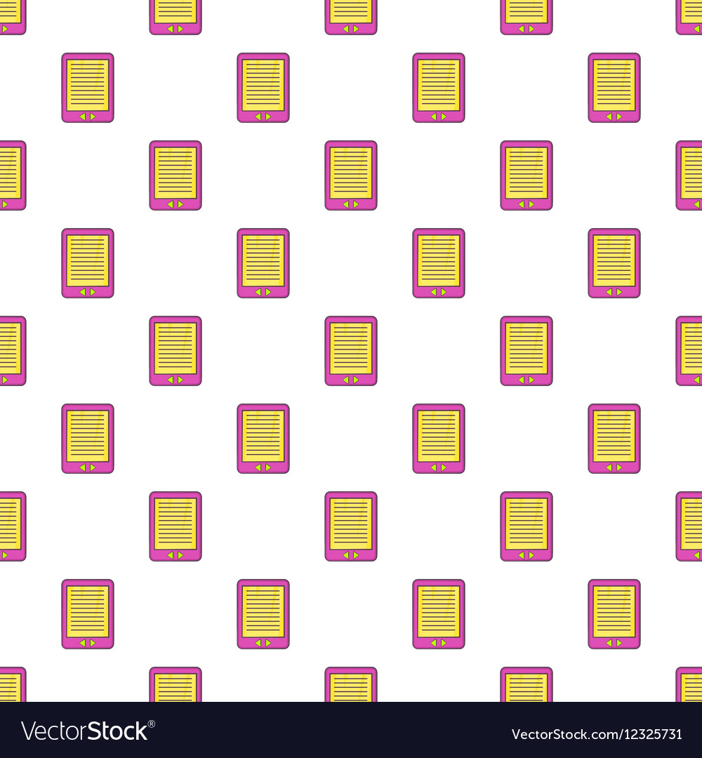E-book pattern cartoon style vector image