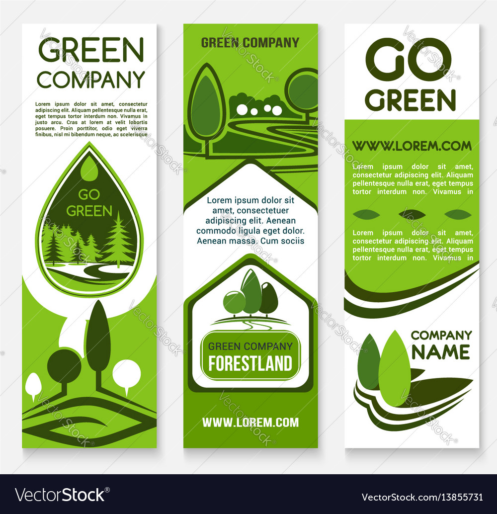 Eco Business Green Company Banner Template Vector Image
