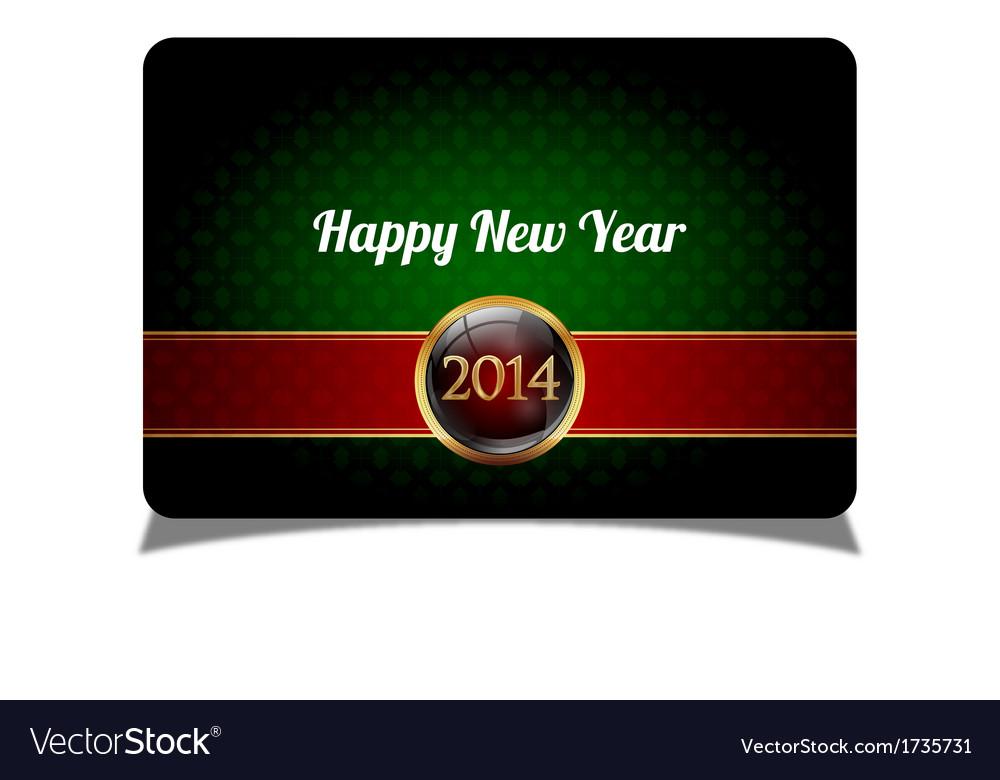 Green new year celebrate card