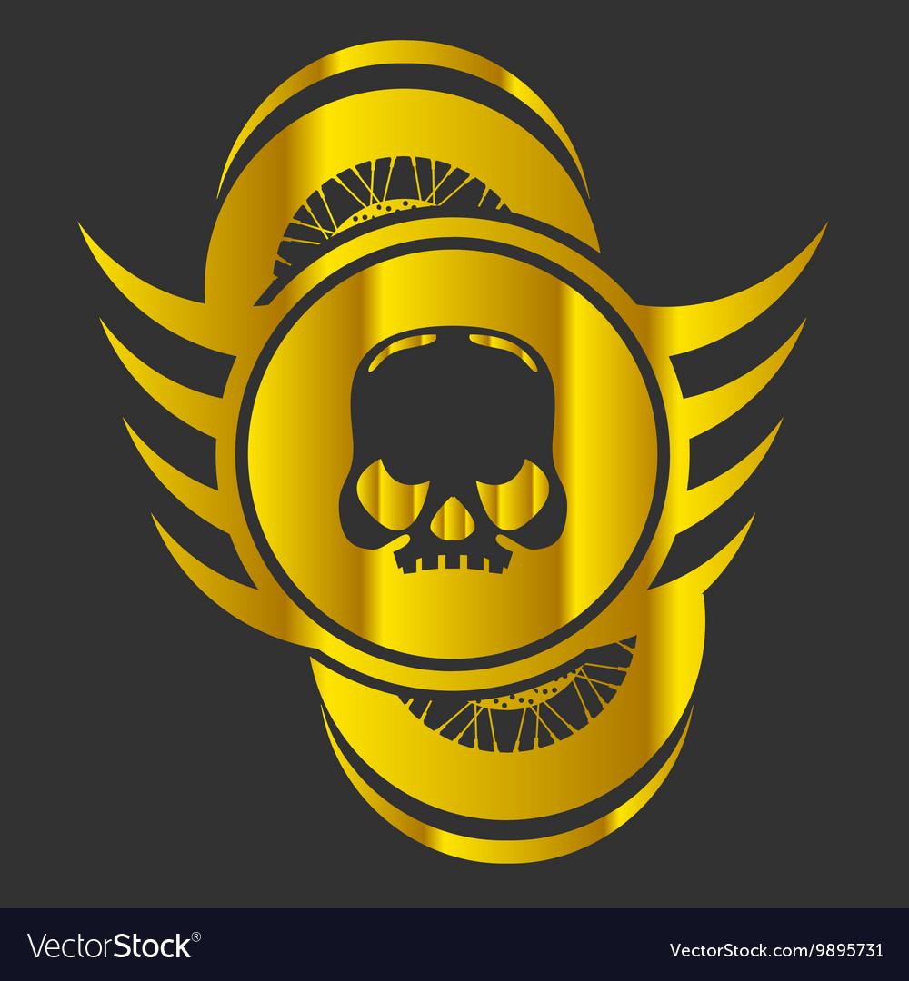 Moto Skull Logo Symbol