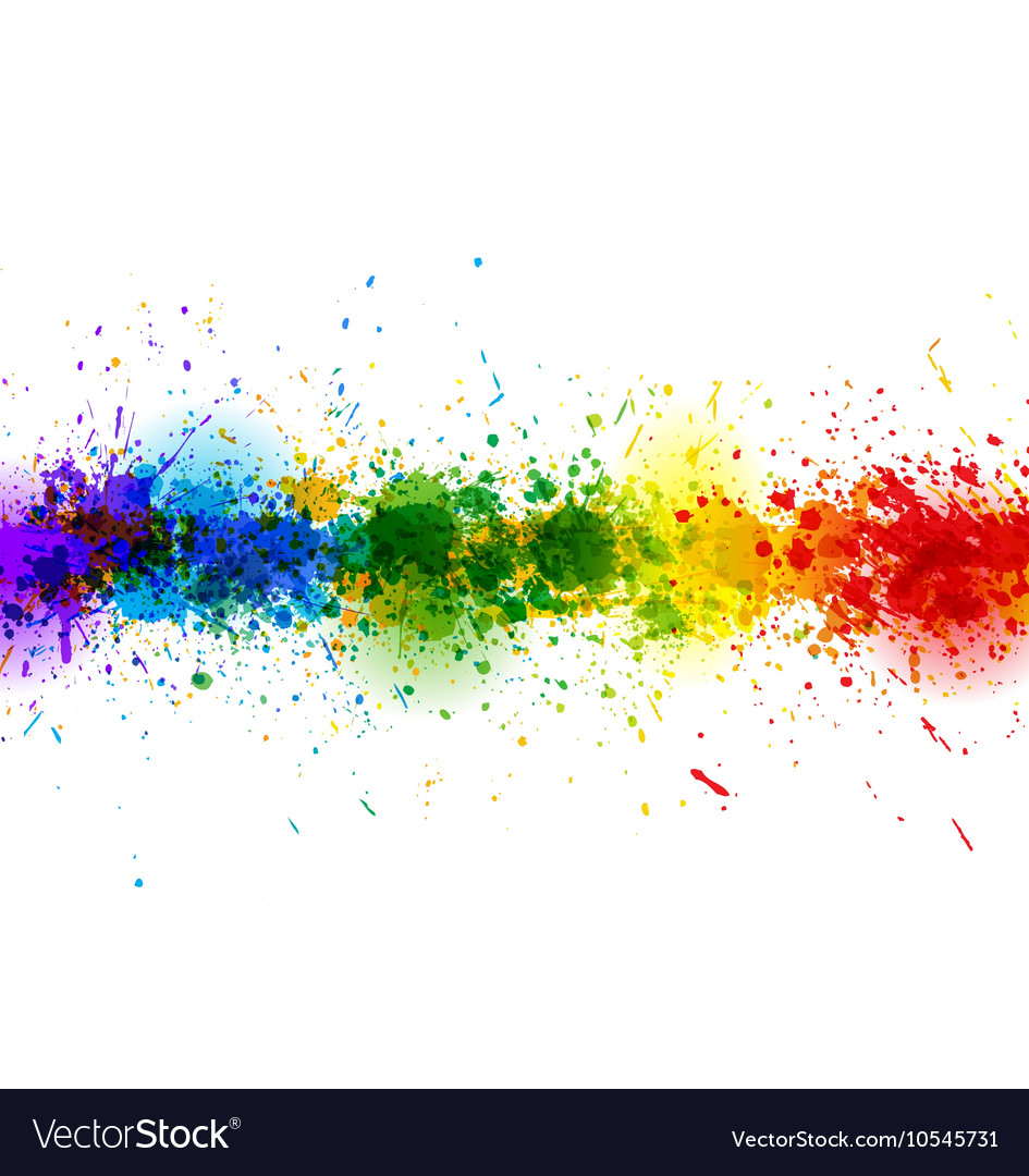 Paint splashes background banner made of vector image