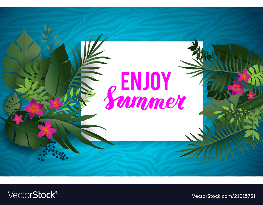 Tropical summer nature poster