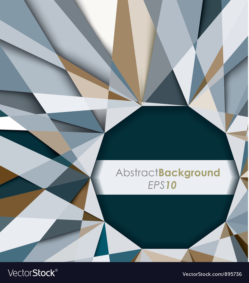 3D Diamond Abstract Background