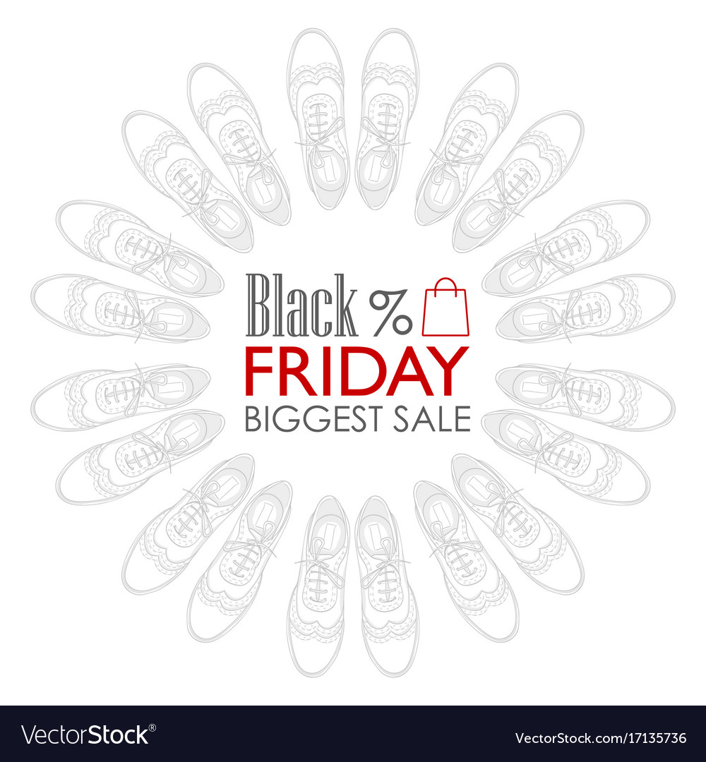 Black friday shoes sale Royalty Free