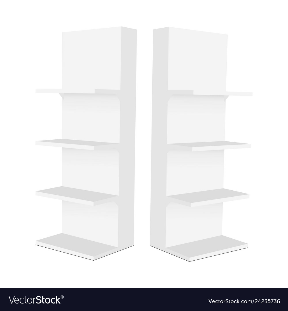 Blank display stand with shelves