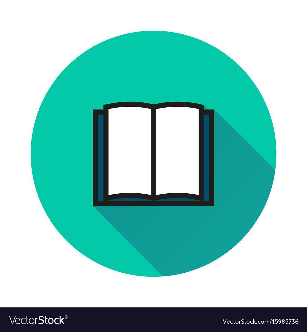 Book icon isolated on round background