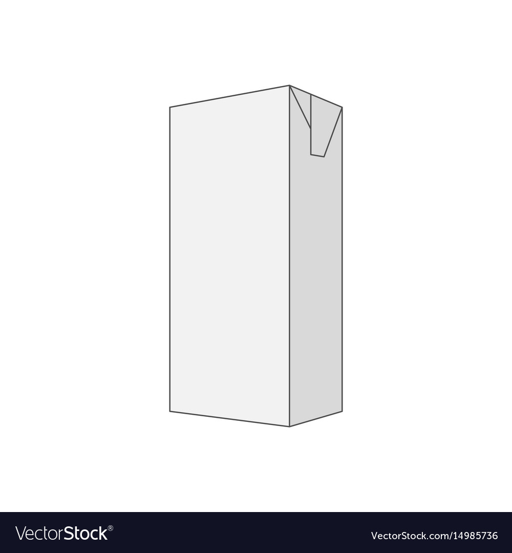 Empty gray box template