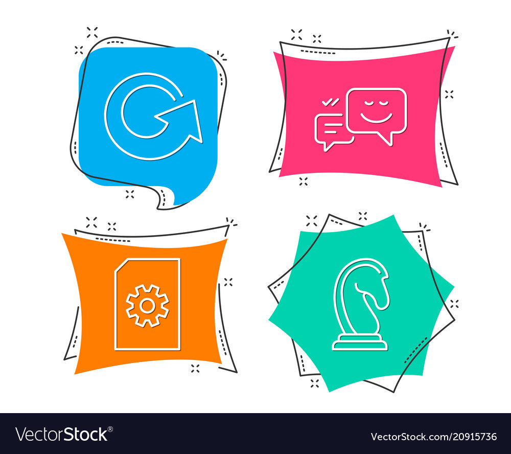 File management reload and happy emotion icons vector image