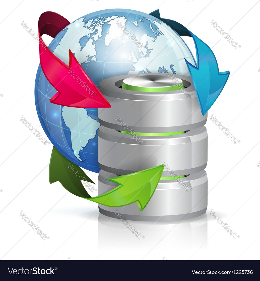Global Access and Backup Concept vector image
