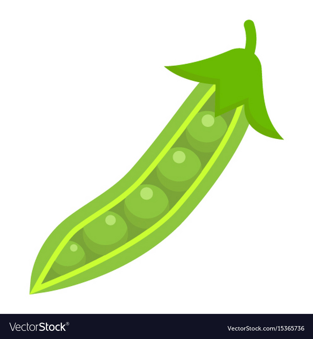 Peas flat icon vegetable and diet
