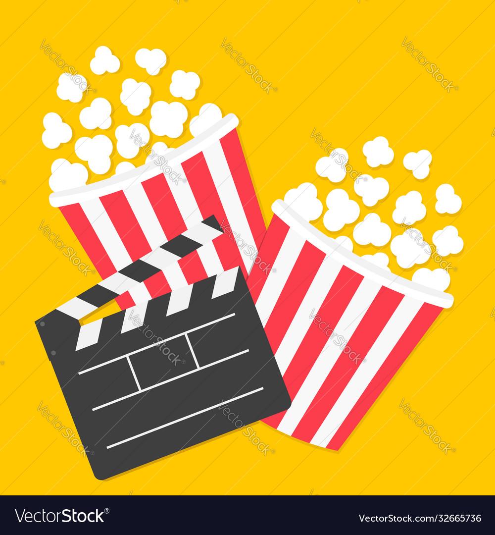Popcorn big open clapper board two pop corn box