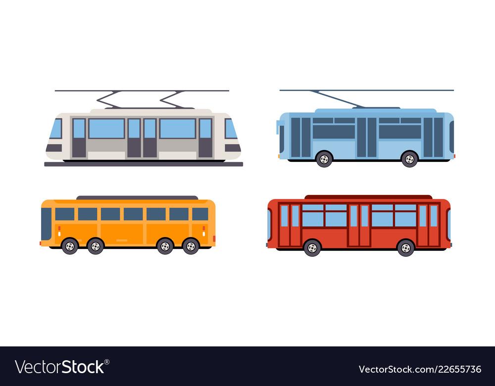 Trolley bus tram bus public city transportation