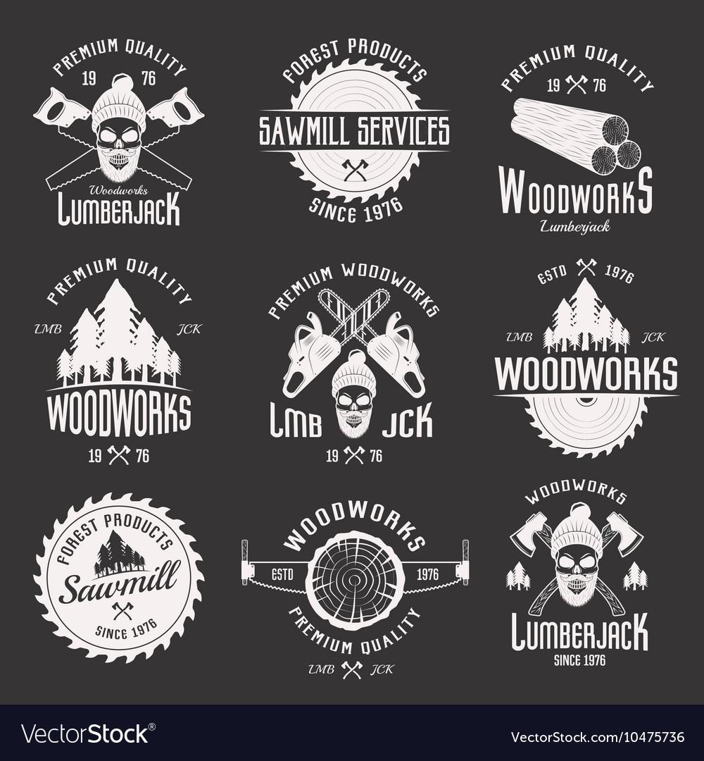 Woodworks Monochrome Emblems