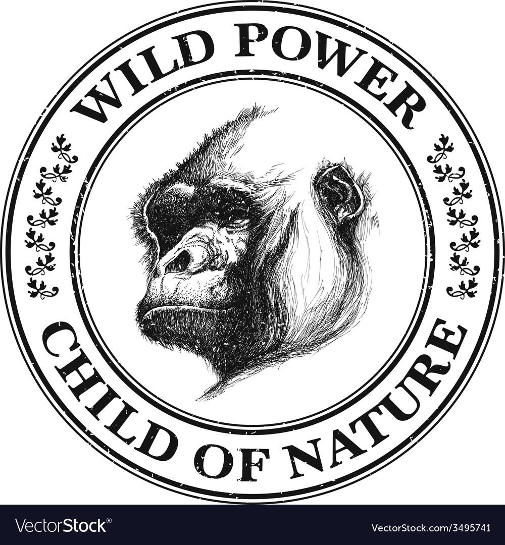 Ape head logo in black and white