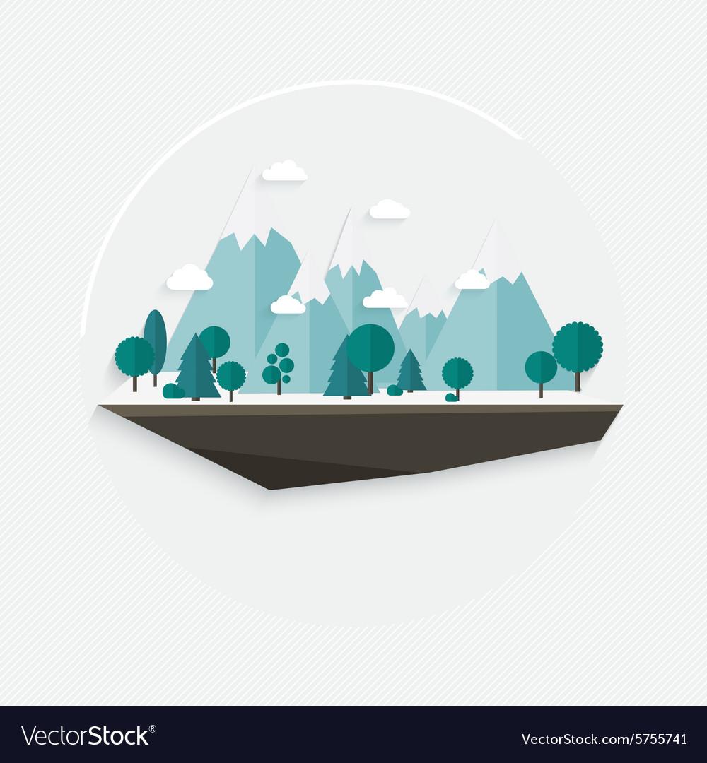 Flat design nature landscape mountain