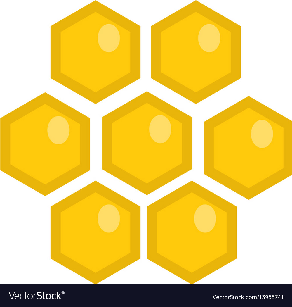 Honey comb icon flat style isolated on white