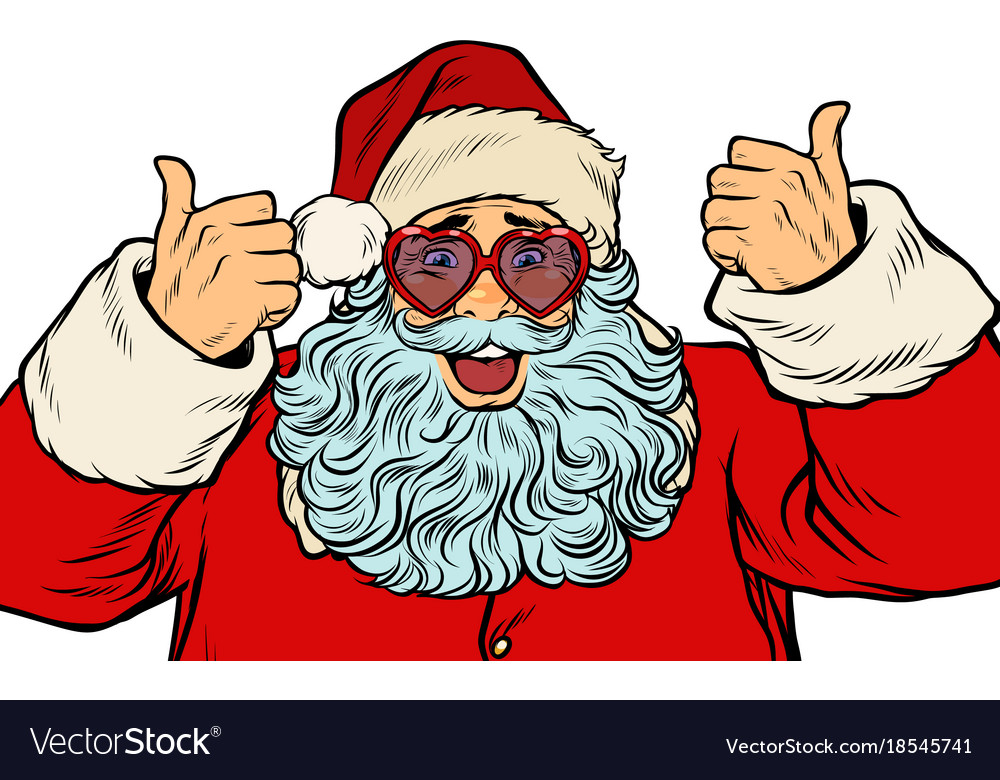 Santa claus in fancy glasses isolated on white