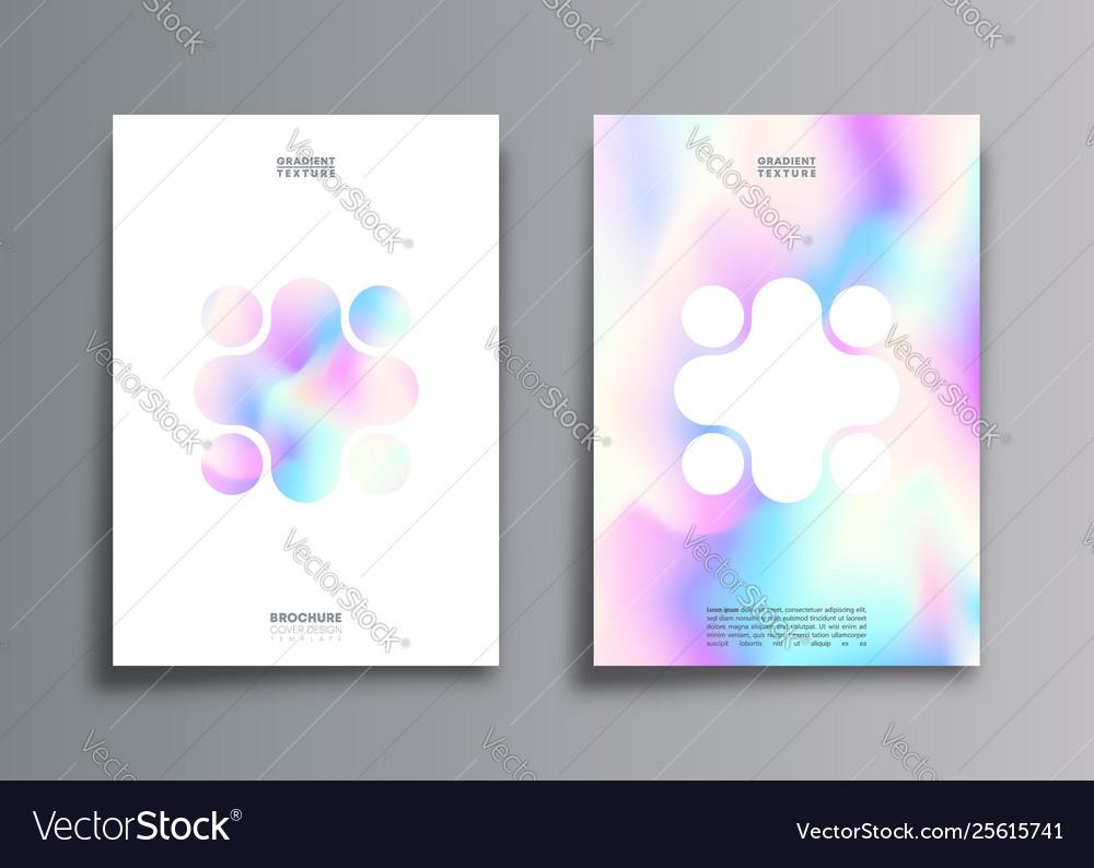 Set hologram gradient texture background