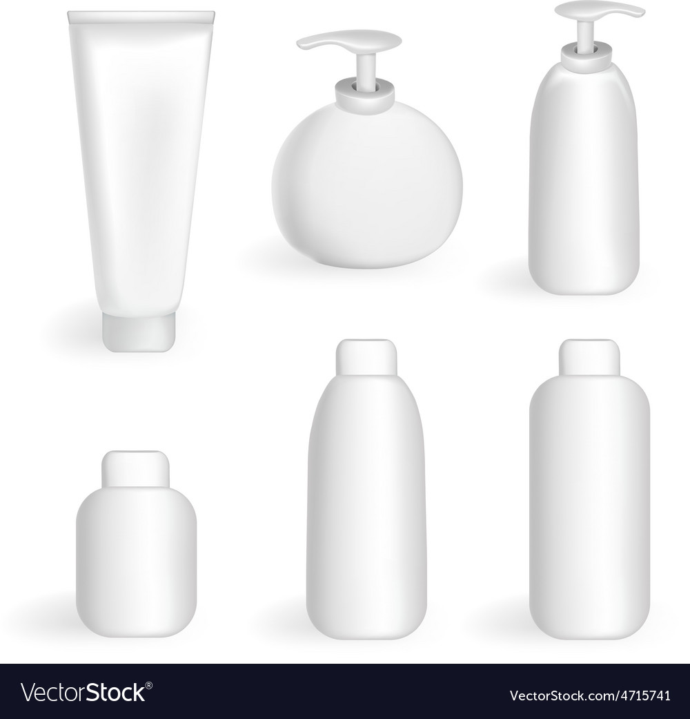 Set tube and jars vector image