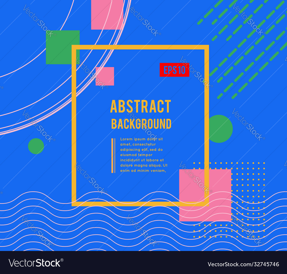 Abstract geometric design with different shapes