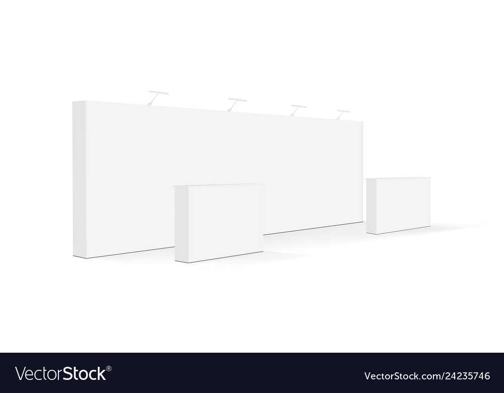 Blank trade show booth or event display stand