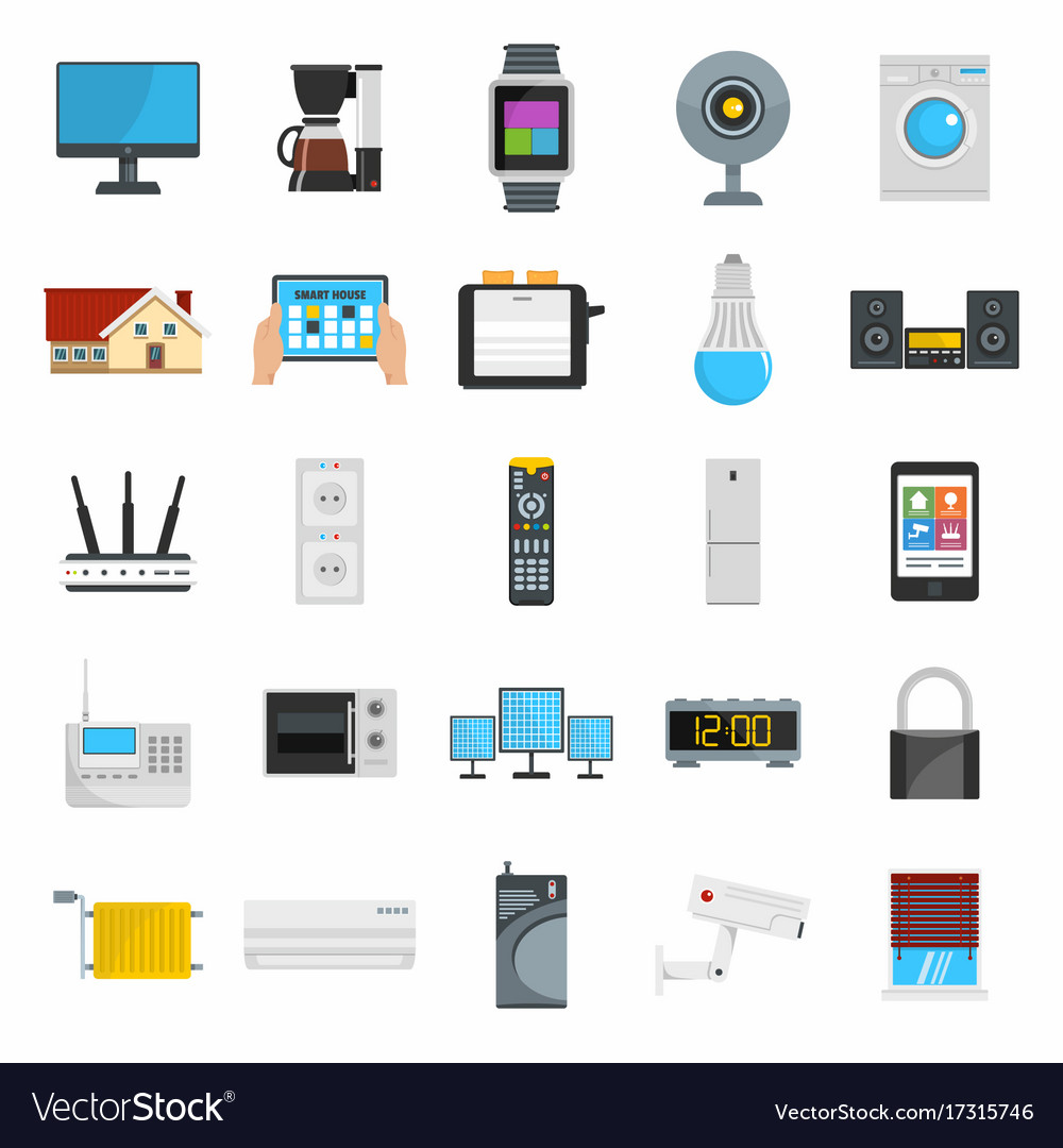Flat design style icons of