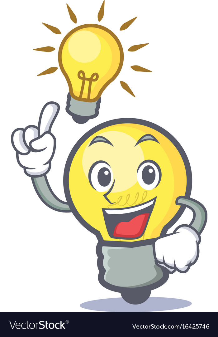 have an idea light bulb character cartoon vector image