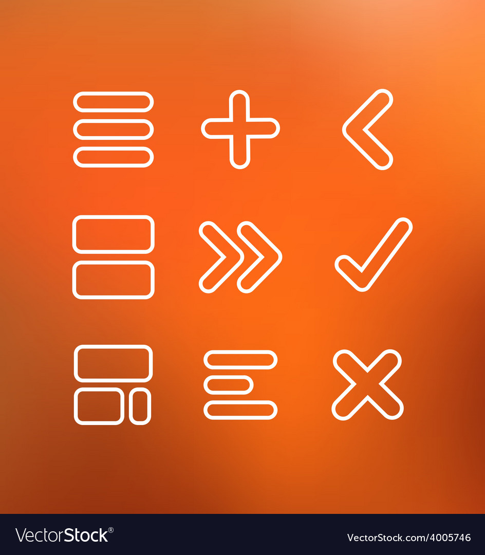 Linear computer icons