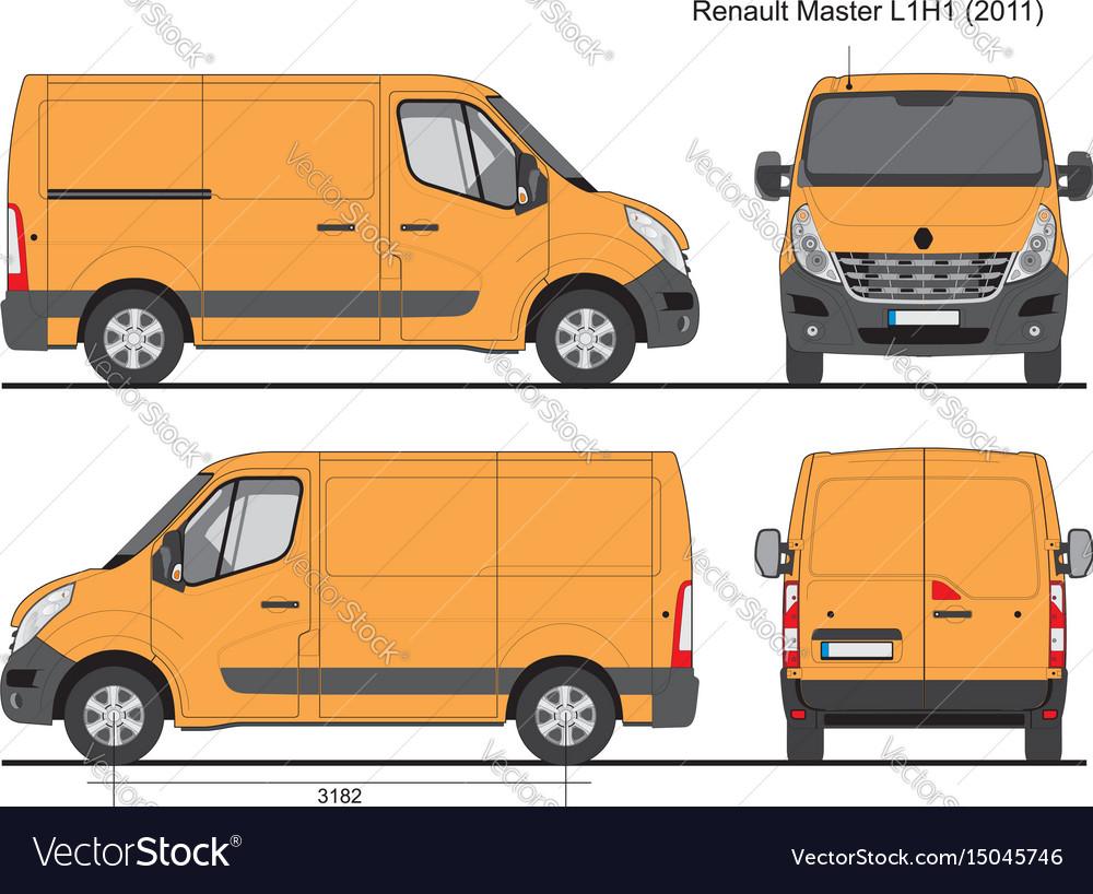 renault master l1h1 2011 royalty free vector image. Black Bedroom Furniture Sets. Home Design Ideas
