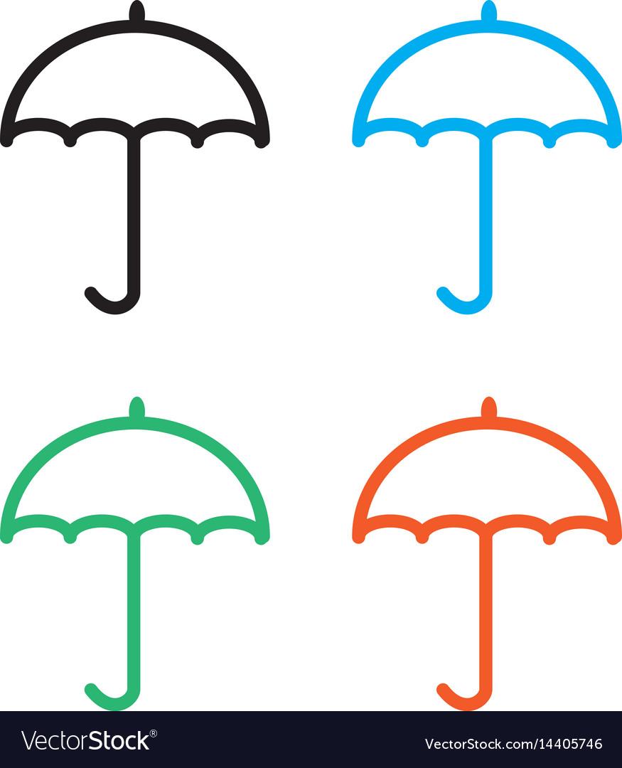 Umbrella icon on white background umbrella sign vector image