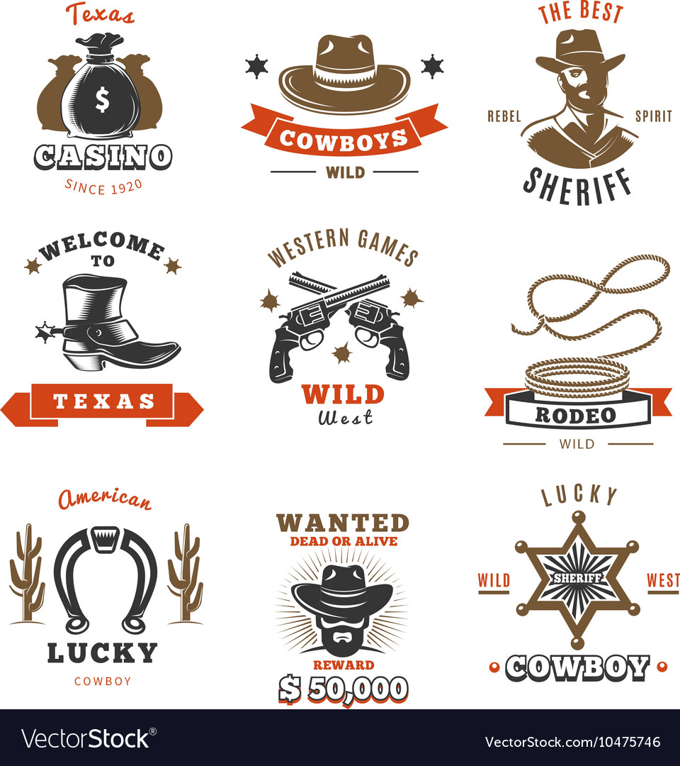 Vintage Sheriff Label Set vector image