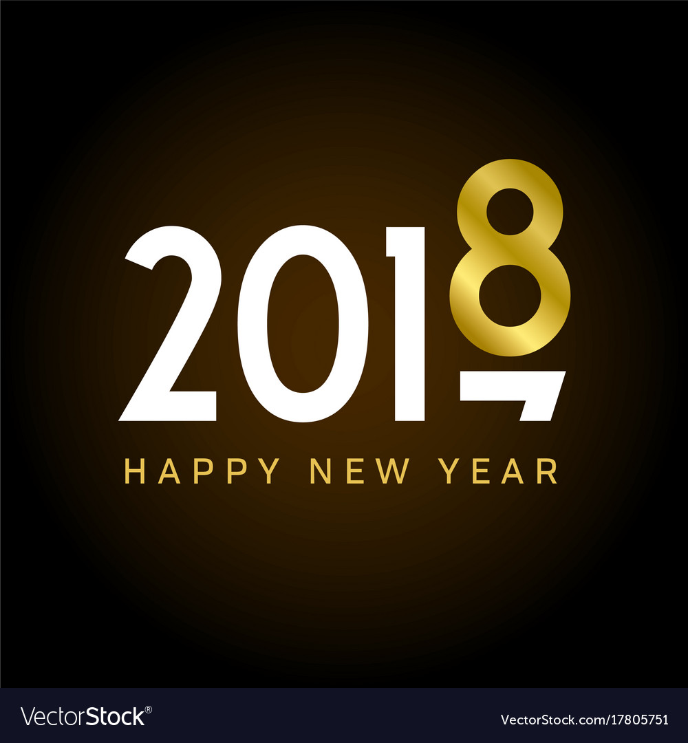 New-year-2018-gold-number-movement vector image