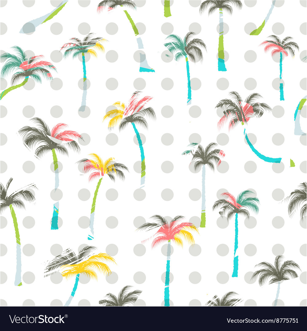 Pattern of palm trees Palm trees seamless